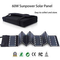 Outdoor Portable Folding 60w Sunpower Panel Solar charger for Camping